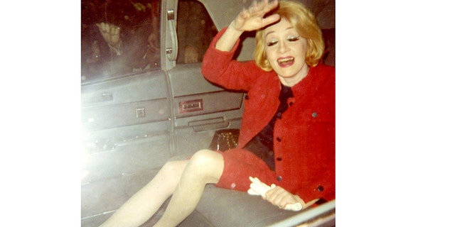 A candid Marlene Dietrich in her later years.