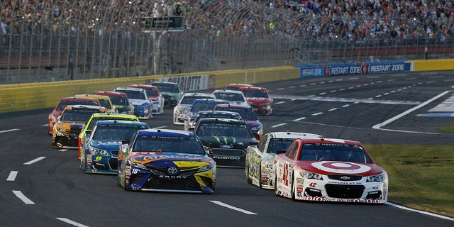 Cars competed in the 2017 All-Star race at Charlotte Motor Speedway in their normal configuration.