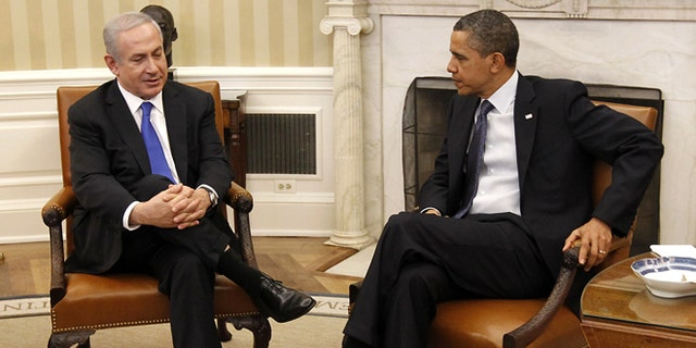 FiLE: March 5, 2012: President Obama meets with Israeli Prime Minister Benjamin Netanyahu in the Oval Office of the White House in Washington.