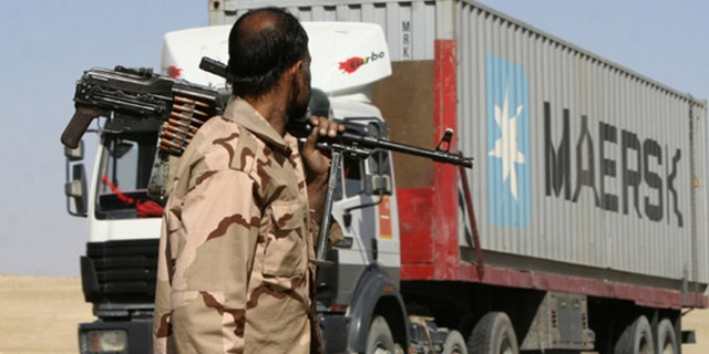 Many of Afghanistan's warlords provide protection to convoys along supply routes for a price.