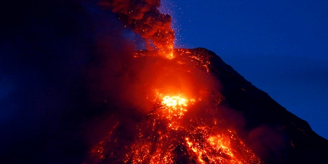 The volcano last erupted in 2014, according to Reuters.