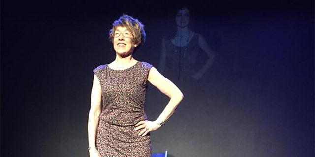 Danna Schaeffer on stage.