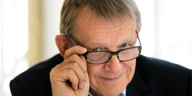 FILE - This Sept. 7, 2015 file photo shows Swedish statistician Hans Rosling.  A Swedish foundation says Hans Rosling, a global health professor known for his ability to make numbers and facts entertaining, has died Tuesday Feb. 8, 2017. He was 68. (Henrik Montgomery/TT via AP, File)