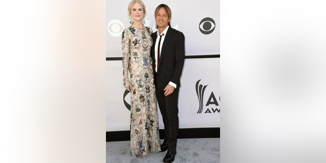 Nicole Kidman, left, and Keith Urban arrive at the 52nd annual Academy of Country Music Awards at the T-Mobile Arena on Sunday, April 2, 2017, in Las Vegas.