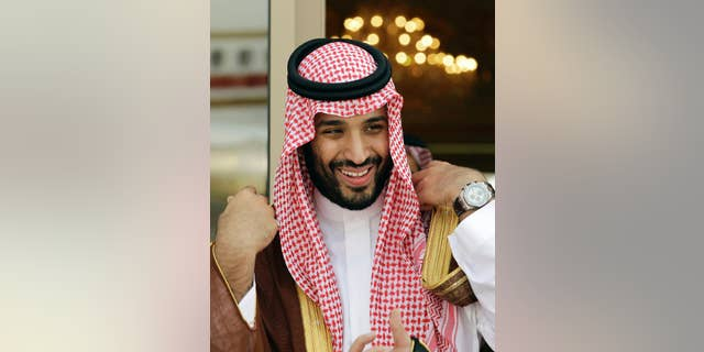 FILE - In this May 14, 2012 file photo, Prince Mohammed bin Salman waits for Gulf Arab leaders ahead of the opening of Gulf Cooperation Council summit, in Riyadh, Saudi Arabia. Saudi Arabia's Deputy Crown Prince Mohammed bin Salmansat down fora rare televised interview Tuesday, May 2, 2017,  evening with Saudi TV,defending hiswide-reaching plans for overhauling the country's economy andoffering insights into how he views the kingdom's war in Yemen and its tensions with rival Iran. (AP Photo/Hassan Ammar, File)