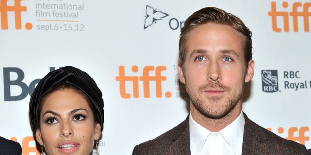 Eva Mendes and Ryan Gosling at the Toronto International Film Festival