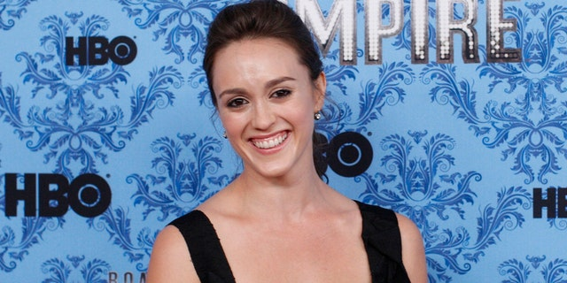 "FILE: Heather Lind smiles during a photo call for the premiere of the second season of ""Boardwalk Empire"""