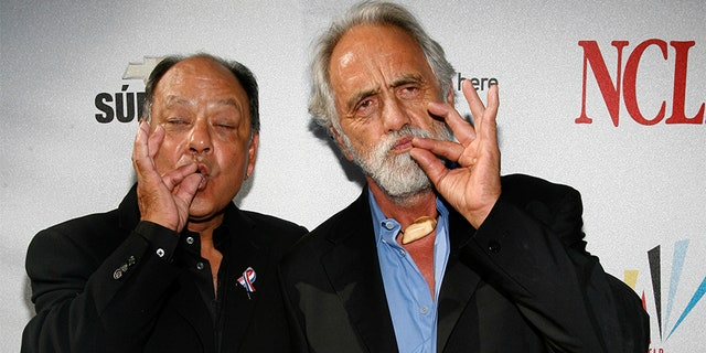 "Richard ""Cheech"" Marin (left) and Tommy Chong today."