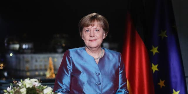 German Chancellor Angela Merkel in December.
