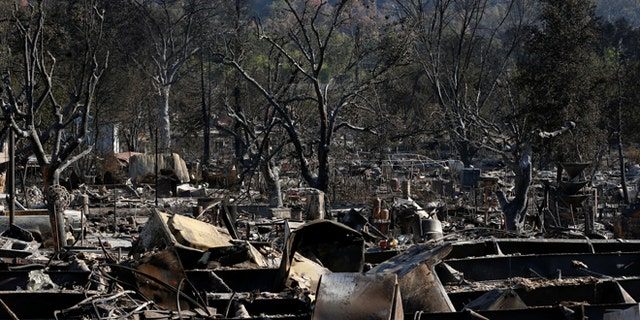 iA view of burned properties destroyed by the Clayton Fire is seen along Winchester Street in Lower Lake in California, U.S. August 15, 2016. REUTERS/Stephen Lam - RTX2L46N