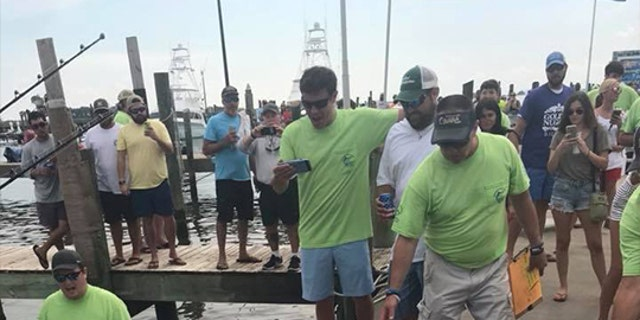 The marlin was caught 170 miles from the shore, just a few hours before the three-day tournament came to a close.