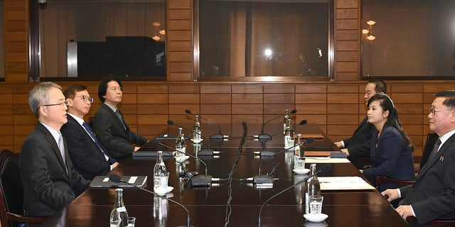 Hyon was part of the four-member North Korea delegation on Monday.
