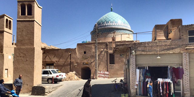 The ancient old town of Yazd, capital of Yazd province located 390 miles south east of Tehran
