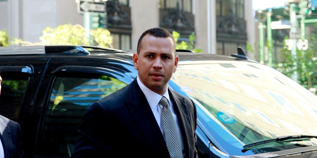 FILE- In this Oct. 1, 2013, file photo, New York Yankees' Alex Rodriguez arrives at the offices of Major League Baseball for grievance hearing in New York. Rodriguez allegeldy paid $305,000 for evidence that could be used in the case involving the Biogenesis of America drug clinic, the Daily News reported Saturday, Oct. 19, 2013. The allegation was denied by a spokesman for the Yankees' third baseman. Rodriguez was suspended Aug. 5 but was allowed to keep playing pending a decision on the grievance. (AP Photo/David Karp, File)