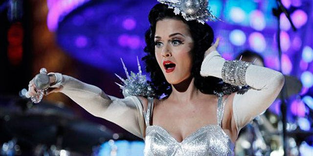 Katy Perry performs at the 2011 Grammy Awards (AP)