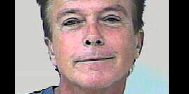 David Cassidy in a mugshot from his arrest.