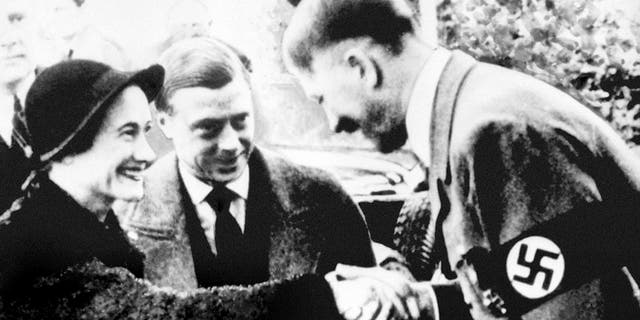 Adolf Hitler meeting Wallis Simpson and Edward VIII.