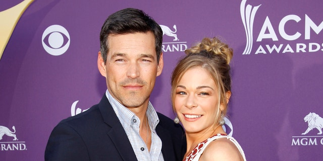 LeAnn Rimes (R) and her husband Eddie Cibrian (L) celebrated their 10th wedding anniversary in April.