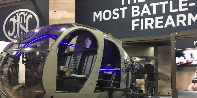 File photo of a helicopter on display at SHOT Show 2017 (Allison Barrie)