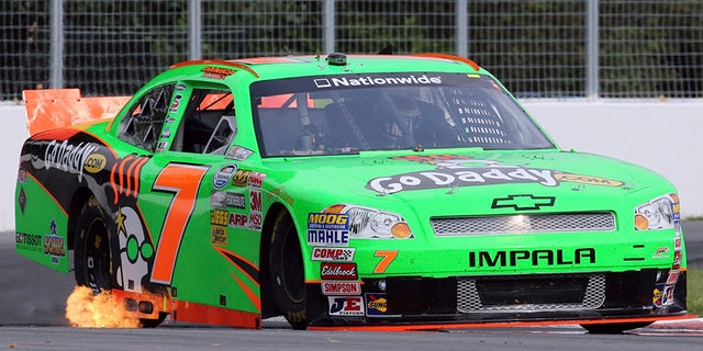 Patrick driving her NASCAR Nationwide Series Chevy in 2012.