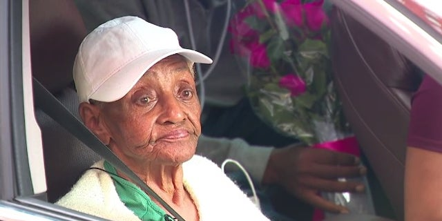 Elizabeth Brown, 90, was hit by a stray bullet in Baltimore on Saturday.