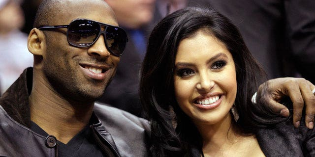 FILE - In this Feb. 13, 2010, file photo, Los Angeles Lakers guard Kobe Bryant and his wife, Vanessa, attend the skills competition at the NBA basketball All-Star Saturday Night in Dallas. Vanessa Bryant filed for divorce from the Lakers star, Friday, Dec. 16, 2011, in Orange County Superior Court in Santa Ana, Calif., citing irreconcilable differences as the reason for the split.