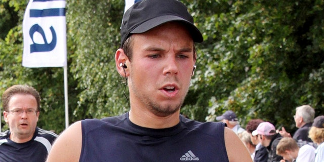 In this Sunday, Sept. 13, 2009 photo, Andreas Lubitz competes at the Airportrun in Hamburg, northern Germany.