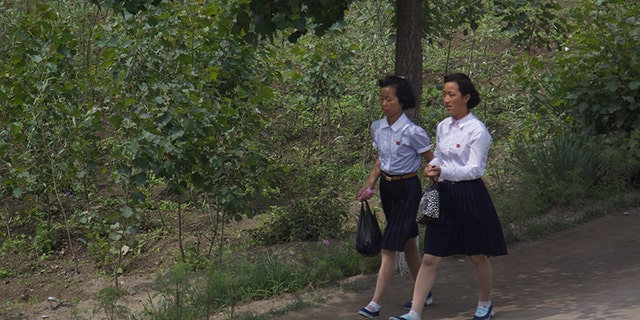 School girls in North Korea