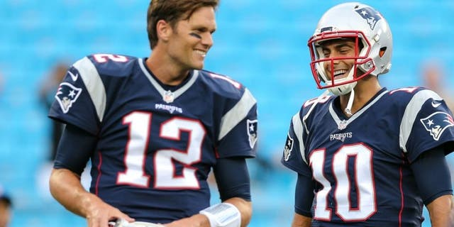 Garoppolo was Tom Brady's backup. (Jim Dedmon-USA TODAY Sports)