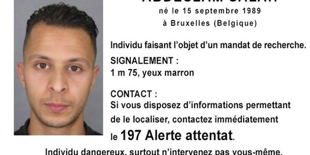 French police issued a wanted notice for Salah Abdeslam, a 26-year-old man born in Brussels.