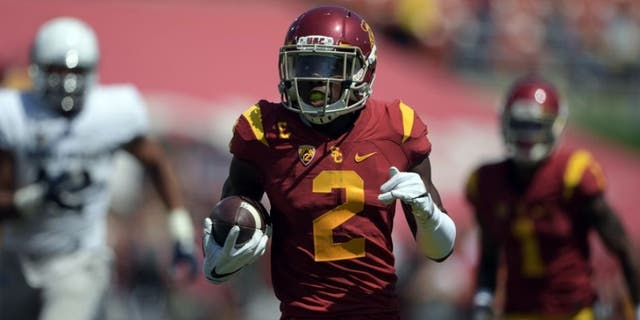 Defensive back Adoree Jackson's touchdown last season is part of the long and storied football tradition at the University of Southern California.