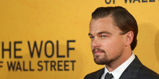 """January 9, 2014. Leonardo DiCaprio arrives for the U.K. premiere of  """"The Wolf of Wall Street"""" at Leicester Square, London."""