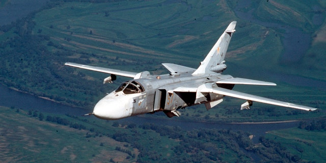 A Russian Su-24 medium-range bomber, in a 2002 file photo.