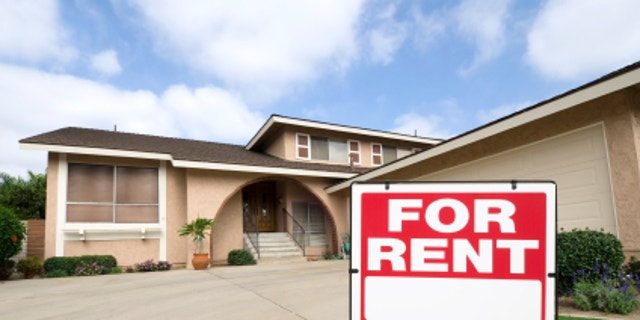 A home is being rented during tough economic times.