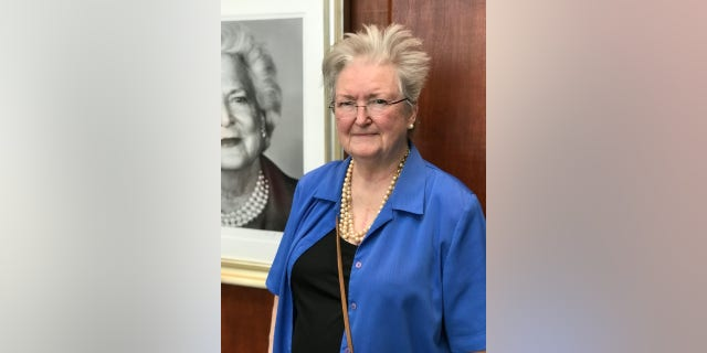 """She was a treasure to her family and our nation,"" Barbara Roach, a former teacher, said. ""I'm very thankful and so in her honor I'm wearing blue and pearls."""