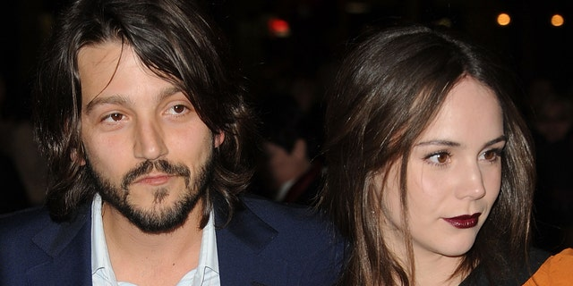 """HOLLYWOOD, CA - MARCH 14:  Actors Camila Sodi and Diego Luna arrive at the premiere of Pantelion Films' """"Casa De Mi Padre"""" at Grauman's Chinese Theatre on March 14, 2012 in Hollywood, California.  (Photo by Jason Merritt/Getty Images)"""