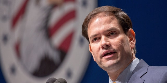 GREENVILLE, SC - MAY 09:  Republican Presidential candidate U.S. Sen. Marco Rubio (R-FL) speaks during the Freedom Summit on May 9, 2015 in Greenville, South Carolina. Rubio joined eleven other potential candidates in addressing the event hosted by conservative group Citizens United.  (Photo by Richard Ellis/Getty Images)