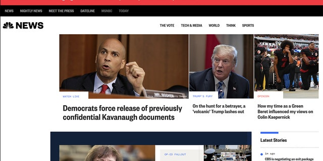 "NBC News' headline claimed Democrats forced the release of ""confidential"" documents hours after it was announced they were not classified."
