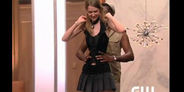 A thin-waisted  woman is seen from the new season of 'America's Next Top Model'