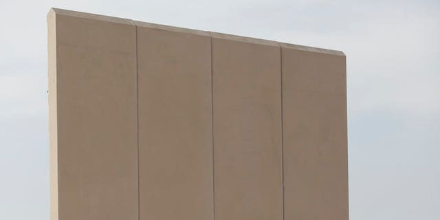 Border wall prototype for the U.S.-Mexico border.