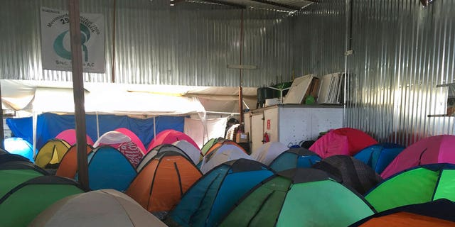 Tents have been set up for members of the caravan. Trump and senior aides have portrayed the caravans and the asylum seekers as evidence of a dysfunctional border and a serious threat.