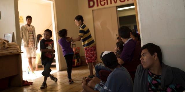 The asylum-seeking immigrants began arriving in Tijuana last week. Two more busloads arrived on Tuesday and four more on Wednesday.