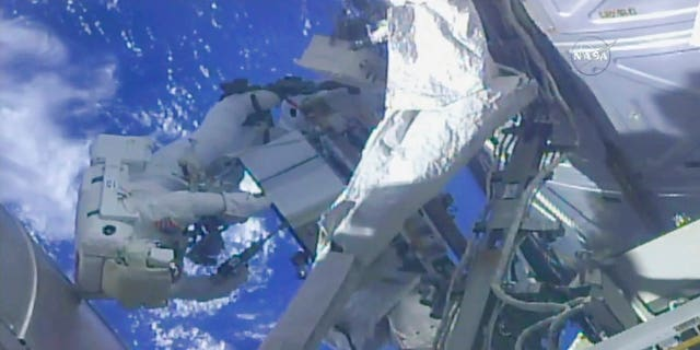 A couple of spacewalking veterans went on a spacewalk to fix a component called a Pump Flow Control Subassembly, or PFCS in space shorthand.