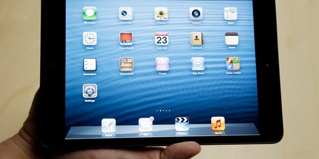 The iPad Mini is shown in San Jose, Calif., Tuesday, Oct.  23, 2012. (AP Photo/Marcio Jose Sanchez)