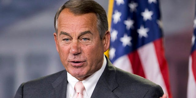 July 10, 2014: House Speaker John Boehner, R-Ohio, speaks to reporters during a news conference on Capitol Hill.