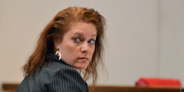 April 1, 2014: In this photo, Stephanie Irene Greene sits in court during her trial at the Spartanburg County Courthouse, in Spartanburg, S.C.