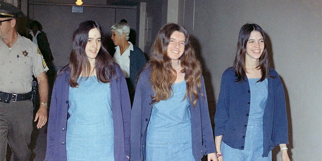 Charles Manson followers, from left: Susan Atkins, Patricia Krenwinkel and Leslie Van Houten.