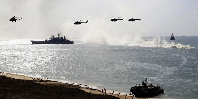 Russia's military conducts drills in this file photo.