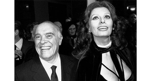 Sophia Loren and her husband Carlo Ponti.