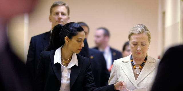 Huma Abedin with then-Secretary of State Hillary Clinton in June 2011.
